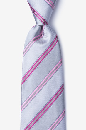 Abbert Gray Extra Long Tie