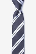 Gray Silk Blackwater Skinny Tie