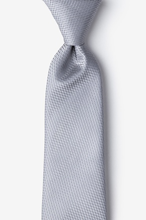 _Dominica Gray Extra Long Tie_