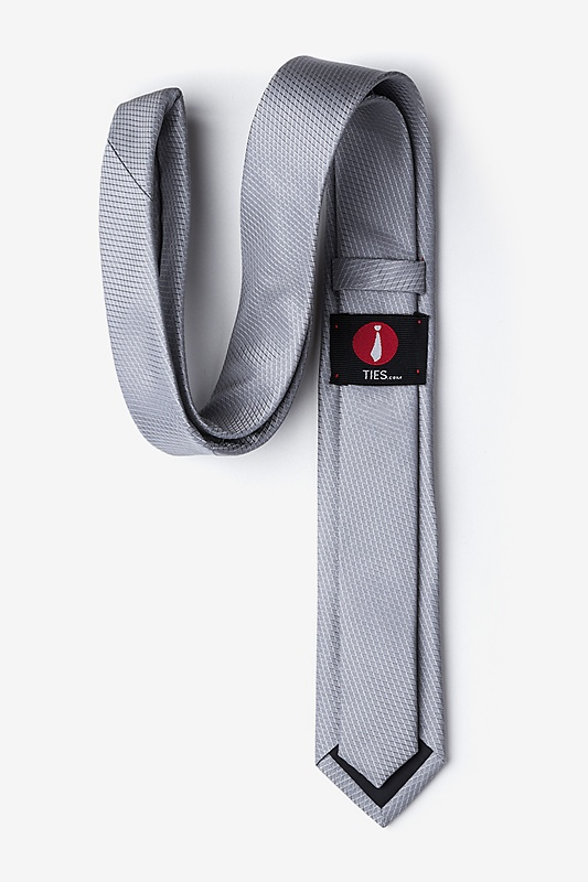 Dominica Gray Skinny Tie Photo (1)