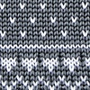 Gray Silk Fair Isle Knit Tie