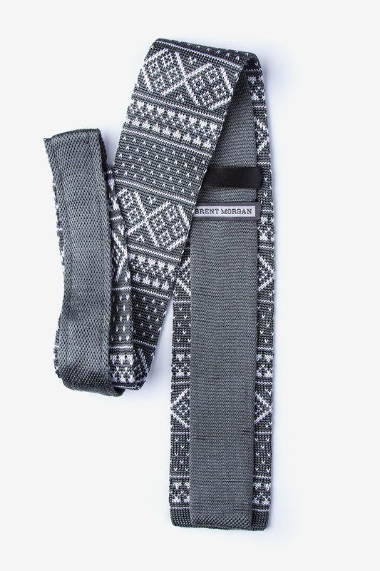 Fair Isle Gray Knit Tie Photo (1)