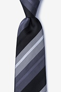Gray Silk Finn Extra Long Tie