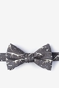 Gray Dig Fossils Self-Tie Bow Tie