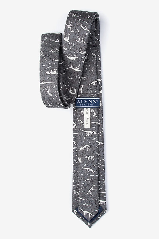 Gray Dig Fossils Skinny Tie Photo (1)