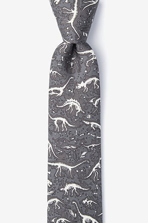 _Gray Dig Fossils Skinny Tie_