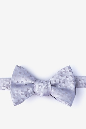 Harrington Gray Self-Tie Bow Tie