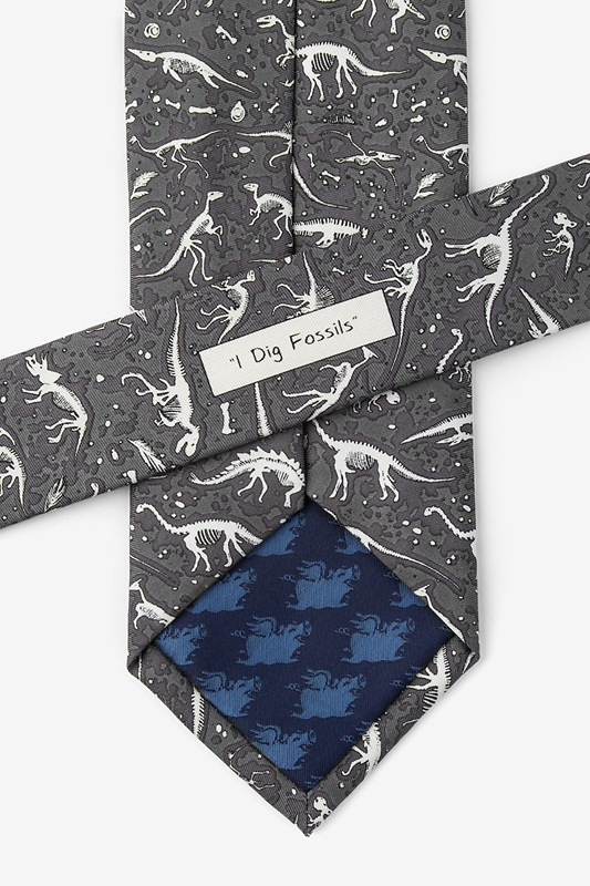 I Dig Fossils Gray Tie Photo (2)