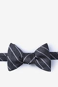 Gray Silk Lagan Self-Tie Bow Tie