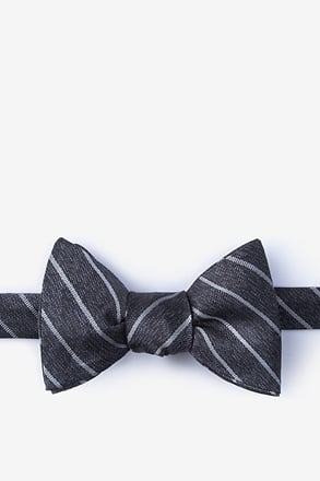 Lagan Gray Self-Tie Bow Tie
