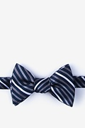 Gray Silk Lee Self-Tie Bow Tie