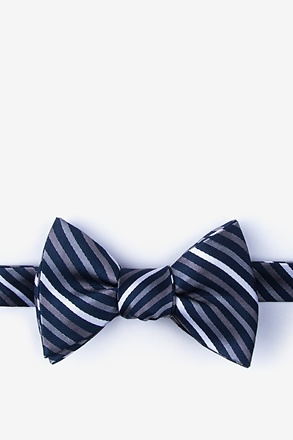 Lee Gray Self-Tie Bow Tie