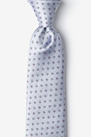 _New Caledonia Gray Extra Long Tie_