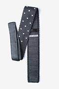 Polka Dot Gray Knit Skinny Tie Photo (1)