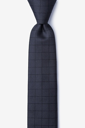 _Red Hill Gray Skinny Tie_