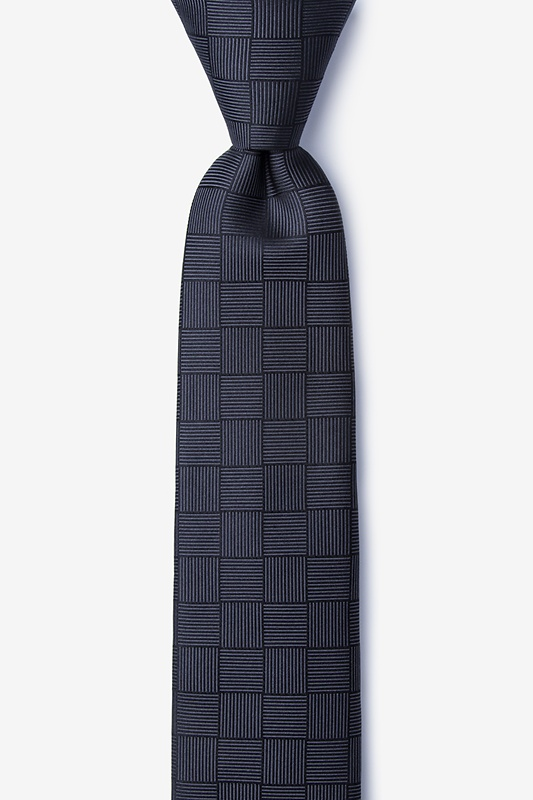 Red Hill Gray Skinny Tie Photo (0)