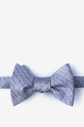 _Robe Gray Self-Tie Bow Tie_