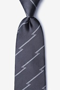 Gray Silk Smoky Extra Long Tie