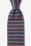 Swiss Stripe Knit Tie Photo (0)