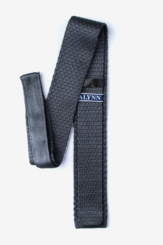 Texture Solid Knit Skinny Tie