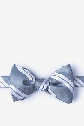 _Wales Gray Self-Tie Bow Tie_