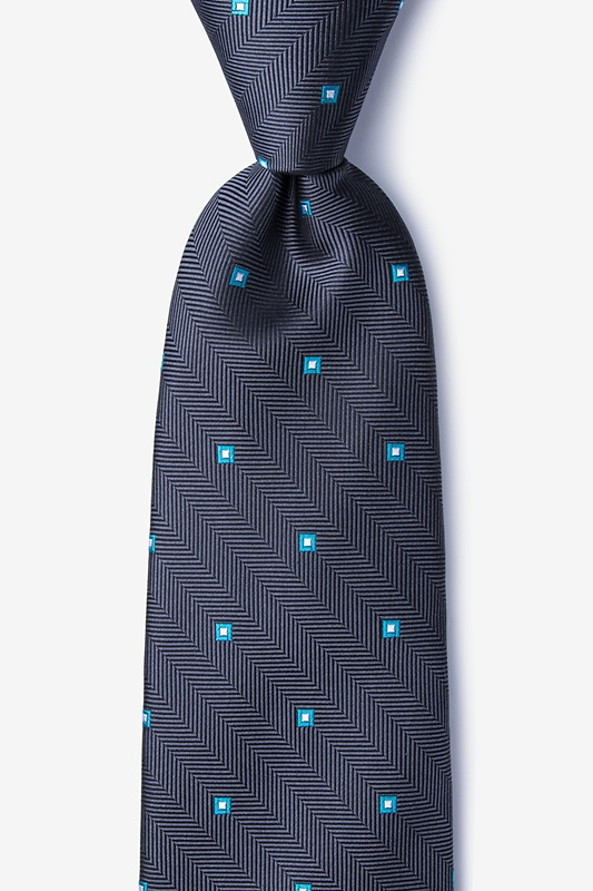 Wooley Gray Extra Long Tie Photo (0)