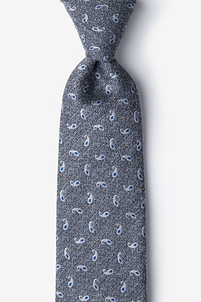 Gray Bucharest Paisley Tie