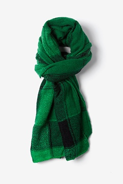 Green London Tartan Scarf