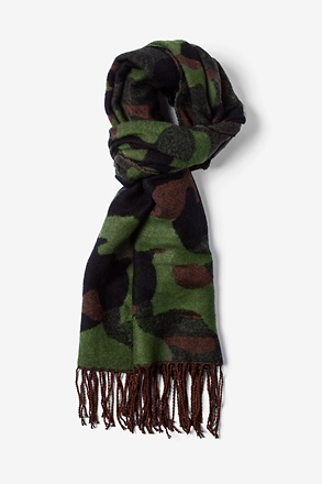 Green Montreal Camo Scarf