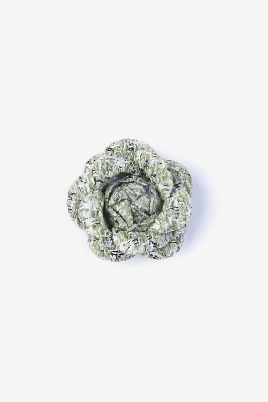 Boucle Tweed Flower Lapel Pin