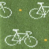 Green Carded Cotton Bicycles Sock