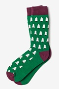 Christmas Trees Green Sock Photo (0)