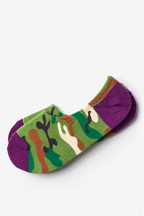 City Camo Green No-Show Sock