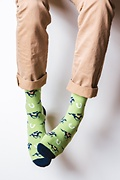 Derby Horse Racing Green Sock Photo (1)