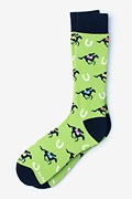 Derby Horse Racing Green Sock Photo (0)