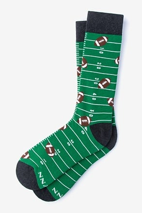 _Football - Hail Mary Green Sock_