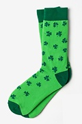 Lucky Shamrock Green Sock Photo (0)