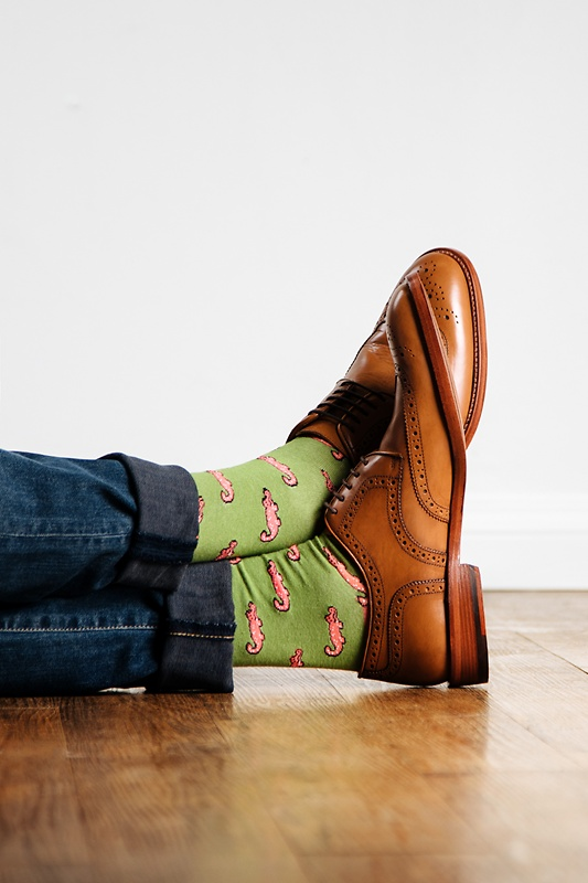 Alligator Green Sock Photo (2)