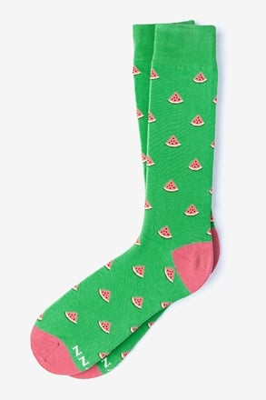 One in a Melon Green Sock