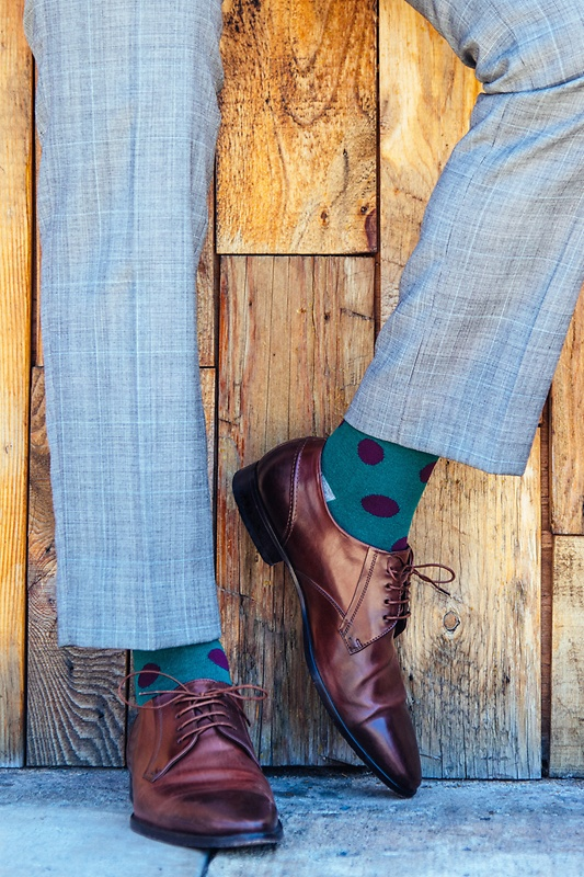 Pasadena Polka Dot Green Sock
