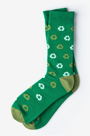 Recycle Green Sock
