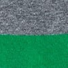 Green Carded Cotton Rugby Stripe Sock