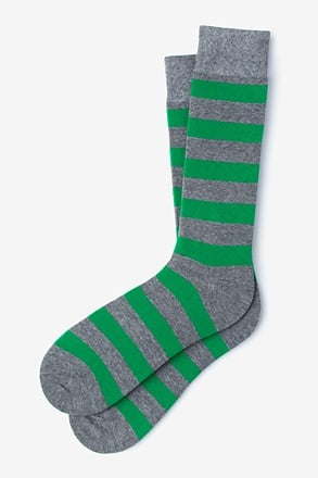 _Rugby Stripe Green Sock_
