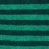 Green Carded Cotton Seal Beach Stripe Sock