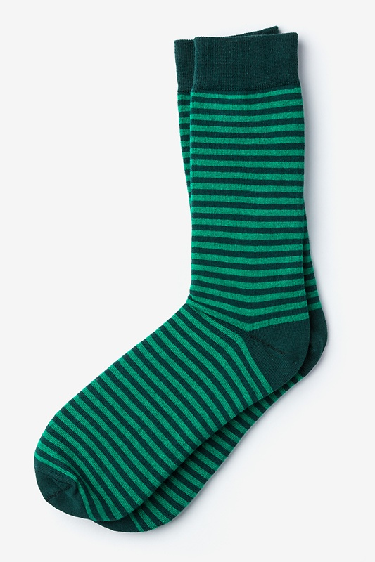 Seal Beach Stripe Green Sock Photo (0)