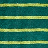 Green Carded Cotton Villa Park Stripe Sock