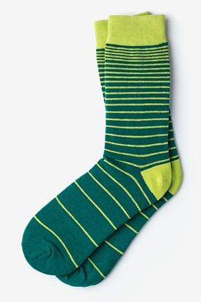 Villa Park Stripe Green Sock