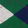 Green Carded Cotton Westminster Argyle Sock
