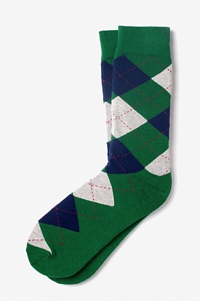 Westminster Argyle Green Sock