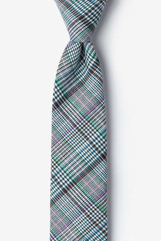 Bradford Plaid Skinny Tie Photo (0)